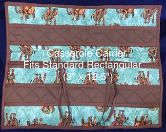 """Casserole Carrier, 9""""x12"""", One of a Kind! Beautiful, Fancy and Functional, Sturdy Carrying Handles"""