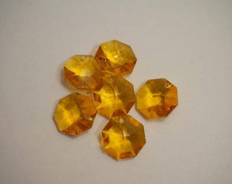 Pendants 6 Octagon Orange - special offer