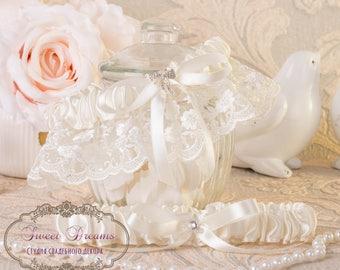 Wedding Garter, Bridal Garter, Wedding Garter Set, Garter Set, Ivory Garter Set, Ivory Lace Garter Set, Bridesmaid Gift