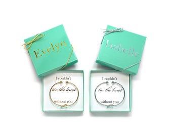 Bridesmaid Proposal, Bridesmaid Gift, Knot Bracelet, Bridesmaid Bracelet, Tie the Knot, Tie the Knot Bracelet, Asking Bridesmaid, Love Knot