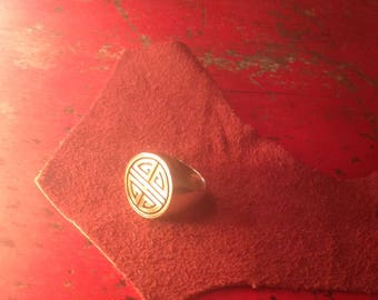 Sterling Silver Tibetan Mandala Ring Size 8