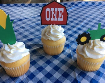 12 Ct. Farm Cupcake Toppers | 12 Ct. Barnyard Cupcake Toppers |