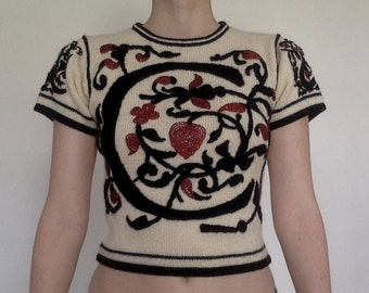"Moschino Cheap & Chic ""C"" embroidered sweater"