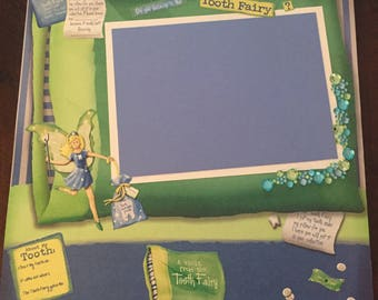 12x12 Scrapbook 2 page layout Tooth Fairy