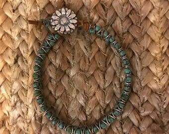 Seed Beed & Jump Ring Bracelet