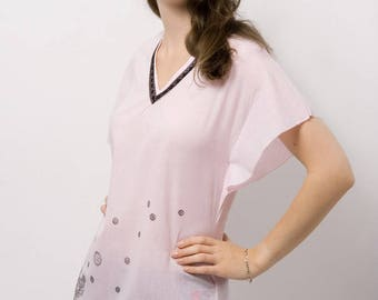 Sophie pink top with pattern T38