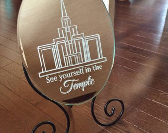 VINYL See yourself in the TEMPLE small temple- vinyl sticker for mirror
