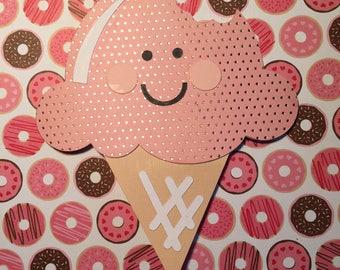 Cardstock Ice Cream Cone