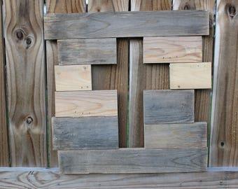 Reclaimed wood cross; reclaimed wood art; wedding guestbook; rustic wood cross; wood cross; cross decor; cross wall art; cross wall hanging