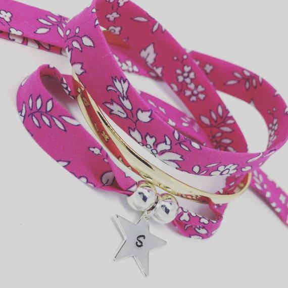 Personalized jewelry - my constellation - Bracelet GriGri XL Liberty of London Liberty - 2 custom ENGRAVINGS
