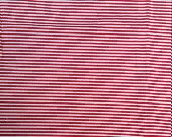FABRIC, stripes, Olivia the pig Exercises and Accessories, Rare, Out of Print 2005  BTHY, red white stripe, Christmas fabric