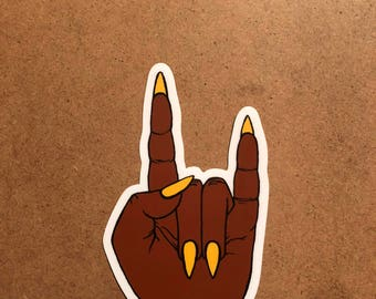 Rock Hand Sticker 2