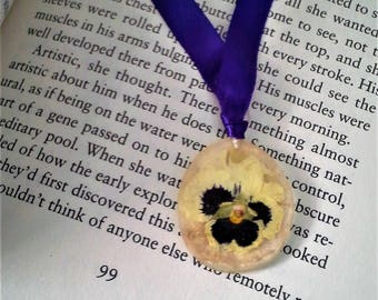Purple Pansy Bookmark