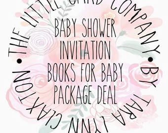Baby Shower Invitation, Books for Baby Package Deal Add-on