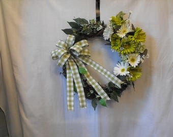 Grapevine floral wreath, Spring, Summer, All Occasion