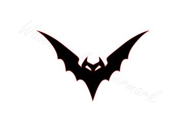 Tribal Bat SVG and Studio 3 Cut File Cutouts Downloads Files Decal Decals Logo for Silhouette Cricut Brother Halloween Bats SVGs Cutouts