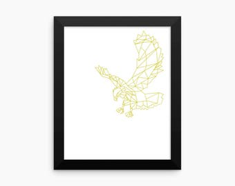 Nature Print, Eagle Print (white background), Motivational Wall Art, Digital Art Print, Home Decor, Wall Art, 8x10, 18x24