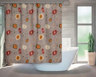 mid century modern shower curtain modern bath retro bath retro bathroom