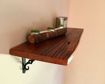 Reclaimed wood shelf etsy for Barnwood shelves for sale