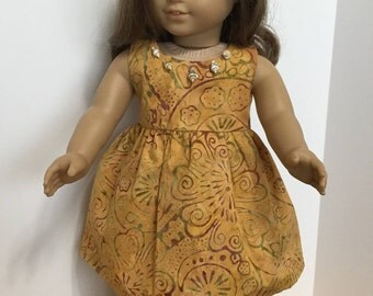 Hawaiian mumu made to fit 18 inch doll such as American Girl