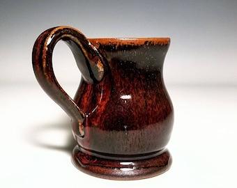 Red Mug / Ceramic Mug / Wheel Thrown Mug / Stoneware Mug / Handmade Mug / Pottery Mug