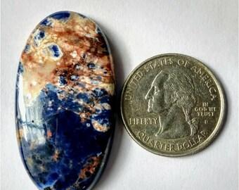 43.30 x 23.58 mm,Ovel Shape Sodalite,Attractive Sodalite /wire wrap stone/Super Shiny/Pendant Cabochon/Semi PreciousGemstone,silver jewelry
