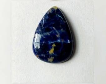 31.55x22.24 ,Pear Shape Sodalite,Attractive Sodalite /wire wrap stone/Super Shiny/Pendant Cabochon/Semi PreciousGemstone,silver jewelry