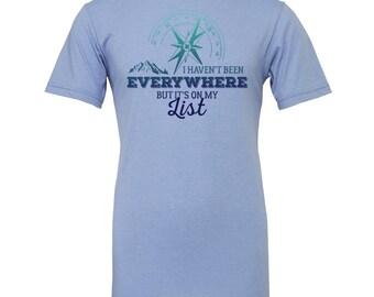 Hiking shirt, adventure shirt, travel shirt, wanderlust shirt, camping shirt, road trip shirt, mountain shirt, wanderlust gift, camp shirt
