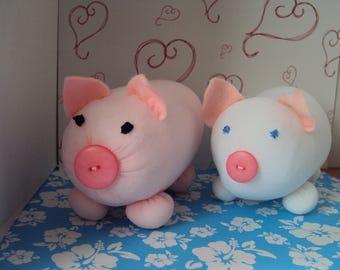 Jillian Jiggs pigs-  choose one- pink one or white- handmade