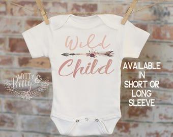 Wild Child Onesie®, Woodland Style Onesie, Wild One Onesie, Cute Baby Bodysuit, Cute Onesie, Boho Baby Onesie, Funny Onesie - 178W