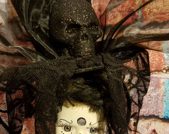 Halloween doll, scary doll, creepy doll, zombie doll, Day of the Dead doll