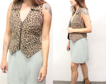 Leopard EASY RIDERS Leather Vest