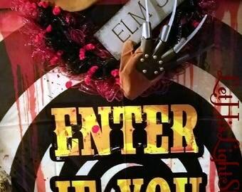 Nightmare On Elm Street Wreath