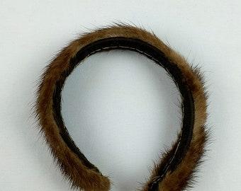 Vintage Fur Headband Handmade