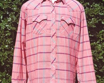 Youngbloods Pink Pearl Snap Shirt