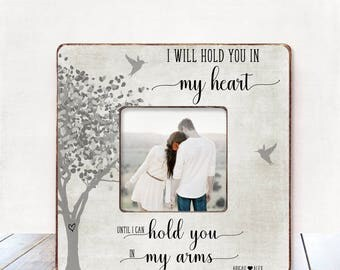 Long Distance Relationship Gift Long Distance Boyfriend Gift Personalized Picture Frame Engagement gift Engagement frame Boyfriend Valentine