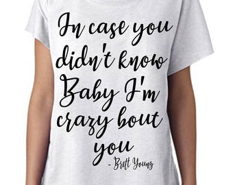 "Brett Young ""In case you didn't know"" T-Shirt - *PREMIUM QUALITY* Next Level Women's Tri-Blend Dolman"