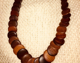 Unique wooden necklace