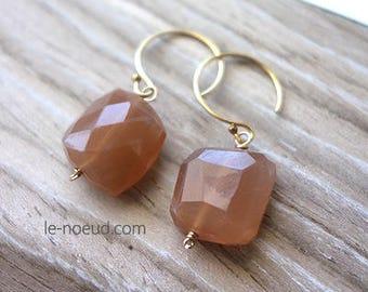 Orange Moon Stone K14GF Earrings