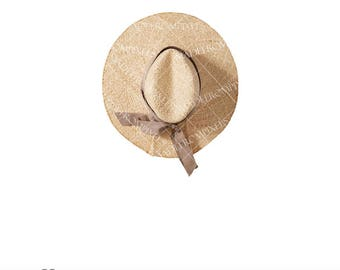 Straw Hat Clipart commercial and personal use, lady hat clipart, fashion clipart, fashion illustration, summer clipart, picnic clipart