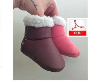 Baby Shoes Pattern - PDF Pattern to Make This Ugg Baby Booties, Ugg Pattern
