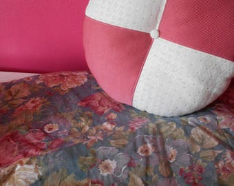 Padded pink cushion