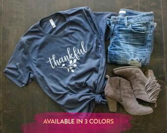 Thankful Shirt, Thanksgiving Shirt, Thanksgiving Outfit, Thankful T Shirt, thankful and blessed, thankful tee, thanksgiving women