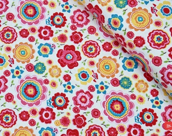 KNIT Fabric by the Yard Floral Knit Jersey Knit Fabric Cotton Spandex Apparel Fabric Cotton Knit Material Stretch Fabric Bedding Baby Fabric