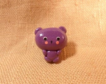 Teddy Bear Jewelry, Teddy bear Pin, Cute teddy bear, tiny teddy bear, small teddy bear, bear jewelry pin, cute bear brooch, polymer clay pin