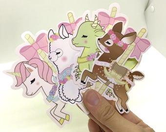 Carousel Creature Stickers