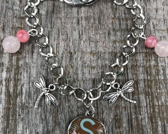 Charm Bracelet, Personalized Bracelet, Bracelets for Women, Jewelry, Personalized Jewelry, Dragonfly Charm, Gift for Her, Stocking Stuffer
