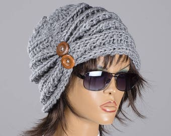 Christmas gift Knit slouchy hat Women chunky hat Women beanie hat Fall Winter hat Fashion accessories Holiday women hat Gift for her