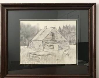 Original Charcoal Art