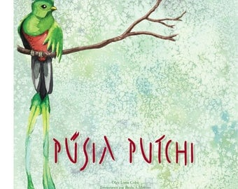 Pusia Putchi tale in french. With watercolor illustrations.